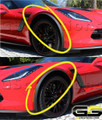 2015-2018 C7 Corvette Genuine GM C7 Z06 Front Wheel Opening Moldings Spats