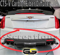 2016-2018 CTS-V Sedan CARBON FIBER Rear Bumper Diffuser