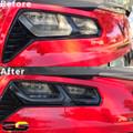 C7 Corvette Rear Tail Light Blackout lens Kit Exposed Reverse Light Style ( Smoked Covers )