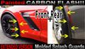C7 Corvette Front & Rear Extended Molded Splash Guards PAINTED CARBON FLASH