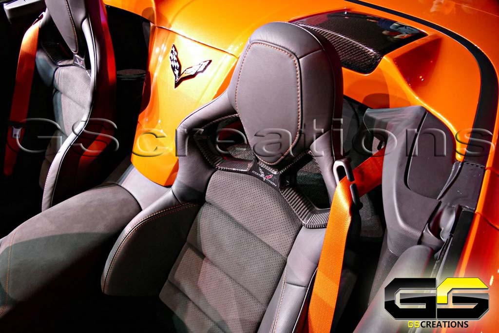 C7 Corvette Orange Seat Belts For Zr1 Stingray Z06