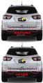 2013-2017 Chevrolet Traverse Rear Reflector Blackout Lens Cover Kit LS LT LTZ