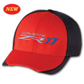 C7 CORVETTE ZR1 CARBON FIBER / Sebring Orange Base Ball CAP HAT (Discontinued)