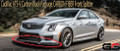 2016-2019 ATS-V Sedan CARBON FIBER Front Splitter With Deflectors