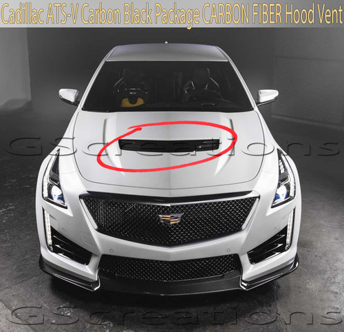 2016-2019 ATS-V Sedan CARBON FIBER Hood Vent OEM GM Part