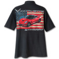 C7 Corvette Stingray Corvette American Flag Tee T-shirt