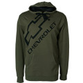 Distressed Chevy Bowtie Jersey Lined Hoodie