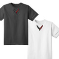 Next Generation Corvette Carbon Badge Men's Tee Shirt T-Shirt