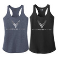 Next Generation Corvette Foil Racerback Tank Top LADIES Tee Shirt T-Shirt