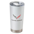 C7 Corvette Frost Tumbler Double Wall Stainless Steel Thermal 20 oz