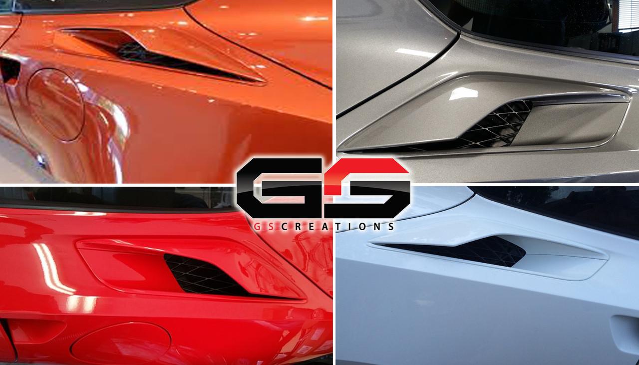 C7 Corvette Z06 Quarter Panel Vent Scoops Painted To Match