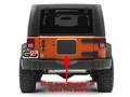 Jeep Wrangler JK JKU Spare Tire Carrier Delete Filler Plate Tramp Stamp 07-18