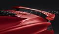 C8 Corvette High Wing Spoiler In Torch Red