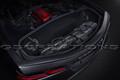 C8 Corvette 2-piece Premium Leather Travel Bags In Jet Black With Crossed Flags Logo