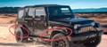 2007-2018 Jeep Wrangler Tactical Jeep JK JKU Fender Flares Stainless Steel