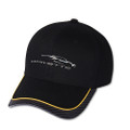 Next Generation Corvette Gesture Yellow Stripe w/ Carbon Bill Base Ball Cap Hat