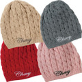 Ladies Chevy Cable Knit Beanie Knit Pullover Ski Cap