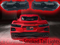 2020 C8 Corvette Replacement OEM Painted Smoked Rear Tail Lights (Blackouts)