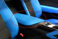 C7 Stingray Z06 Grand Sport Corvette Tension Blue Armrest Lid Leather