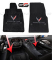 Ultimat Lloyd Floor Mats For 2020+ C8 Corvette With Embroidered C8 Logos