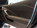 C7 Stingray Z06 Grand Sport ZR1 Corvette  Passenger Door Trim Panel Suede w/  light grey Stitching