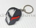 C8 Corvette Racing Jake Punisher Skull Emblem Keychain with Custom Colors