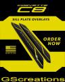 2020+ C8 Corvette Door Sill Plate Covers Custom Painted
