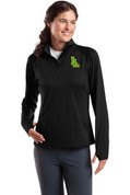 Ladies Lynden Applique SportWick Stretch Half-Zip Pullover