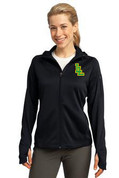 Ladies Lynden Applique Tech Fleece Full Zip Hooded Jacket