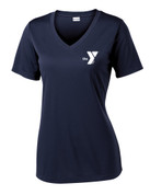 YMCA Dolphins - Ladies V-neck Tech T-Shirt
