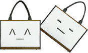 Unplugged Laptotes Laptop Shoulder Tote Emoticon Bag - Mr.Kitty / Shhh
