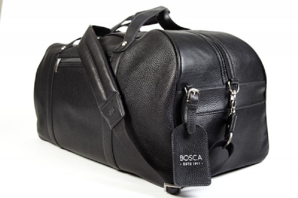 8afef3673 Bosca Tribeca Leather Weekend Carry On Duffle Bag. Image 1. Loading zoom