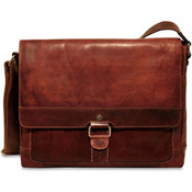 Jack Georges Voyager Leather Slim Messenger Bag