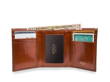 Bosca Old Leather Men S Double I D Trifold Wallet