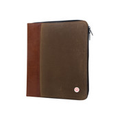 Token Waxed Canvas Crosstown Zippered Portfolio Writing Pad
