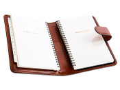 Bosca Old Leather Address Book Weekly Agenda Planner