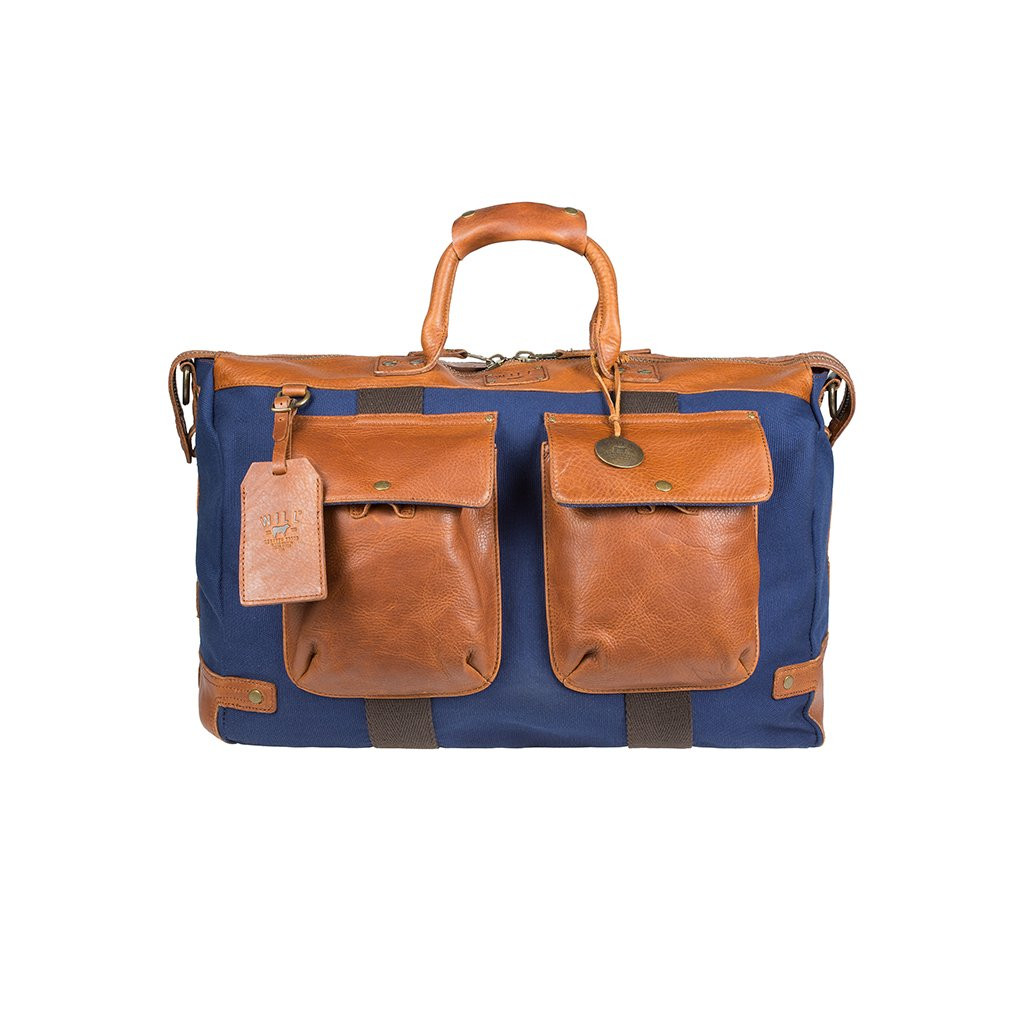 68063882d816 Will Leather Goods Canvas   Leather Traveler Carry On Duffle Bag. Price    450.00. Image 1. Larger   More Photos