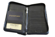 Osgoode Marley RFID Zip Travel Organizer Leather Wallet