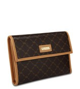 Rioni Womens Front Fold Wallet - Signature Brown