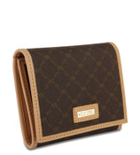 Rioni Womens Tri-Fold Wallet - Signature Brown