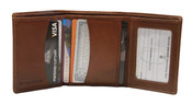 iLi Mens RFID Leather Trifold Wallet w/ ID Window