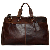 "Jack Georges Voyager Collection Leather Valet 22"" Convertible Duffle Garment Bag"