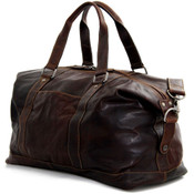 "Jack Georges Voyager Collection 18"" Leather Duffle Bag - Brown"