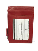ILi Leather Womens RFID Credit Card & ID Holder Wallet w/ Zip Pocket