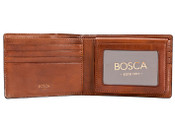 Bosca Dolce Leather Mens Bifold Credit Wallet w/ Removable I.D. Passcase