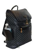 Rioni Cambridge Top Loading Travel Daypack Backpack Unisex - Signature Black