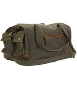 "DamnDog Canvas & Leather Carry On 19"" Over Gear Box Duffle Bag"