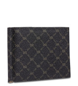 Rioni Mens Bifold Money Clip Wallet Signature Black