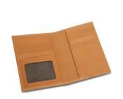 Rioni Travel Wallet Passport Case w/ ID Window - Signature Brown