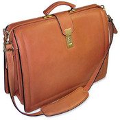 Jack Georges Belting Classic Leather Lawyers Briefbag w/ Shoulder Strap - Belting Tan